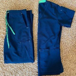 Carhartt Navy Blue Scrub Set